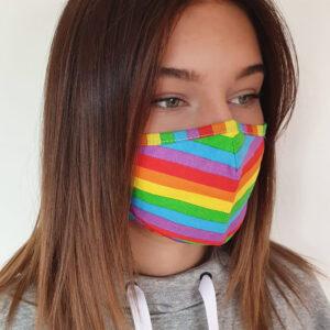 mondkapje regenboog design